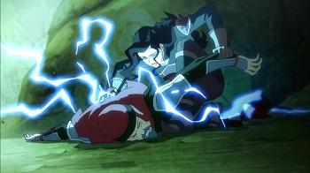 asami attacking red lotus member  - legend of korra book three finale