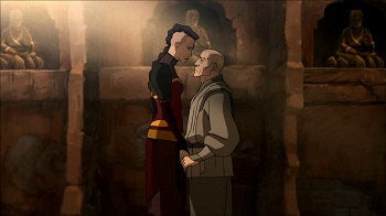 zaheer and p'li - legend of korra book three finale