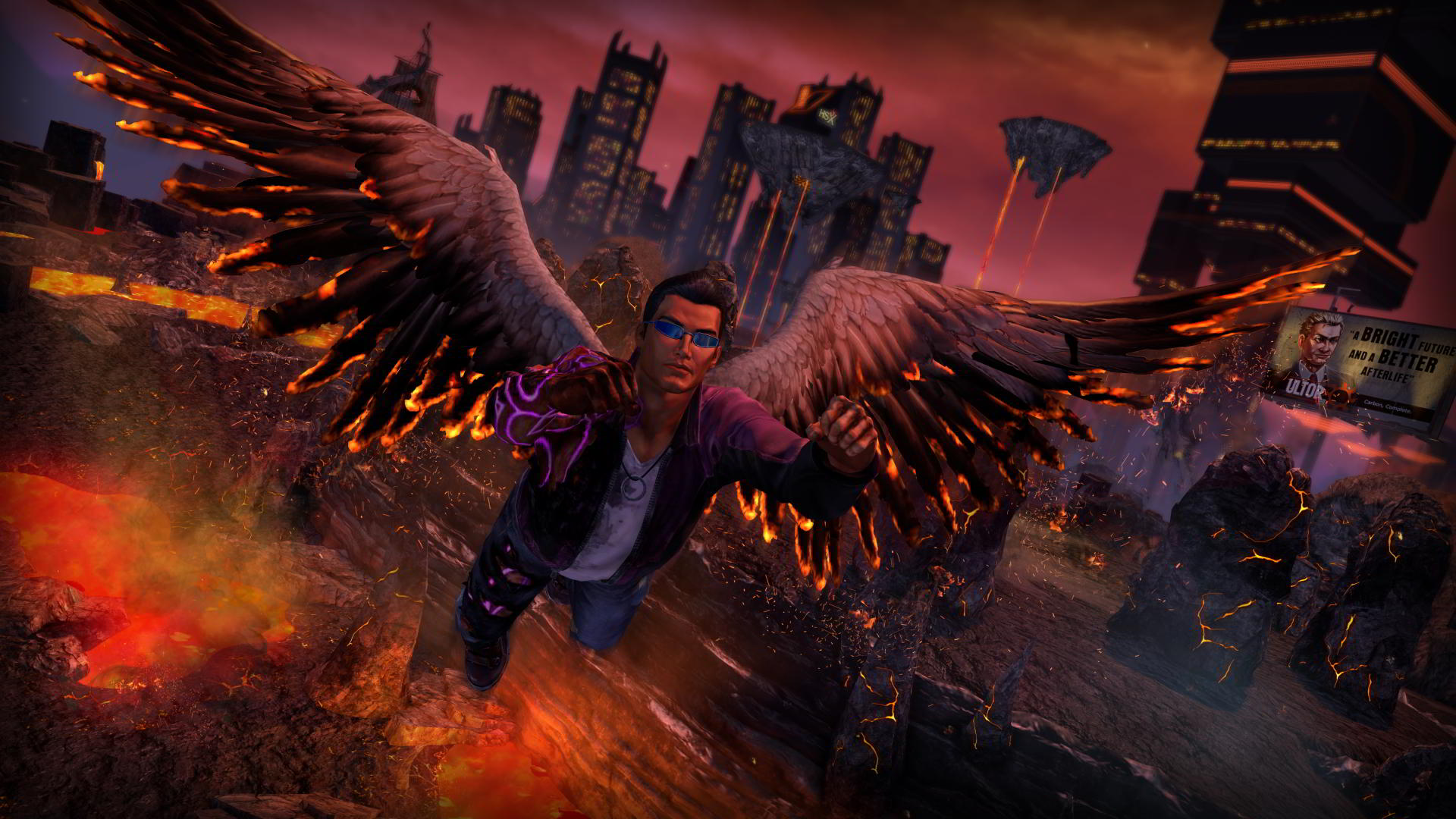 gat flying in saints row gat out of hell