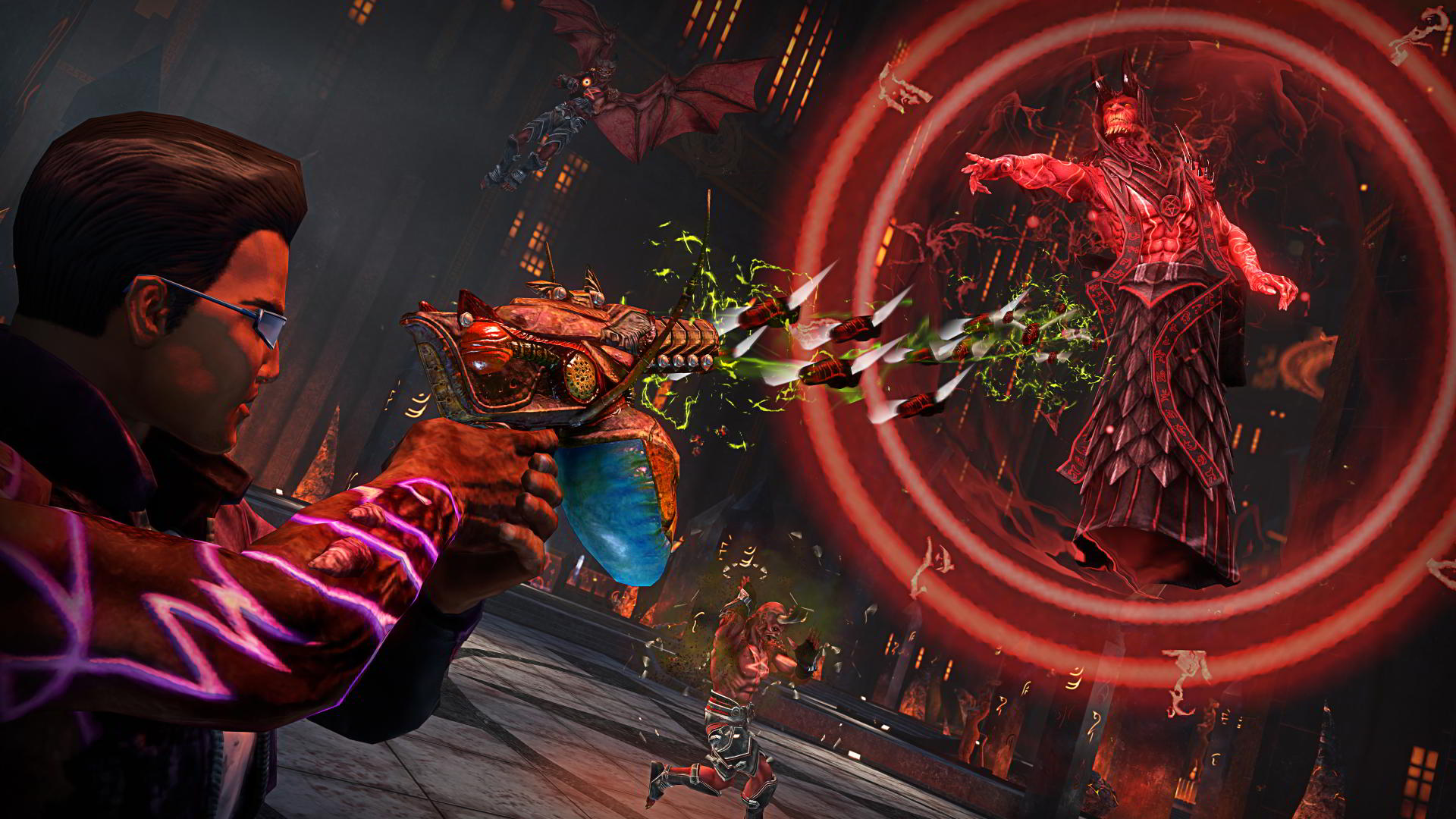 bug weapon in saints row gat out of hell