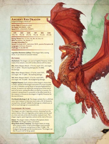 d&d monster manual 5e red dragon