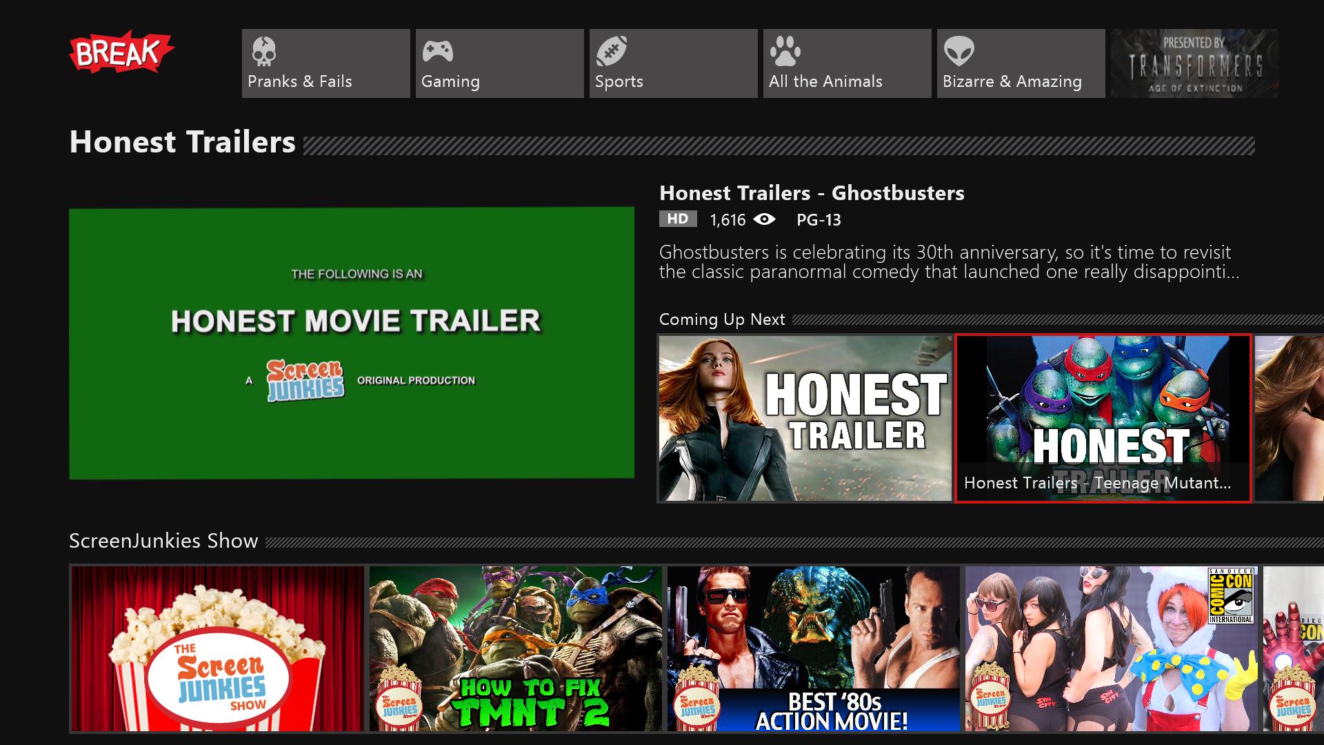 Break Media Xbox App