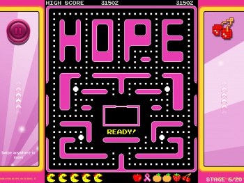 Ms Pac-Man Pink Ribbon campaign