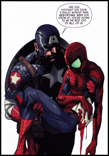 spider-man captain america panel