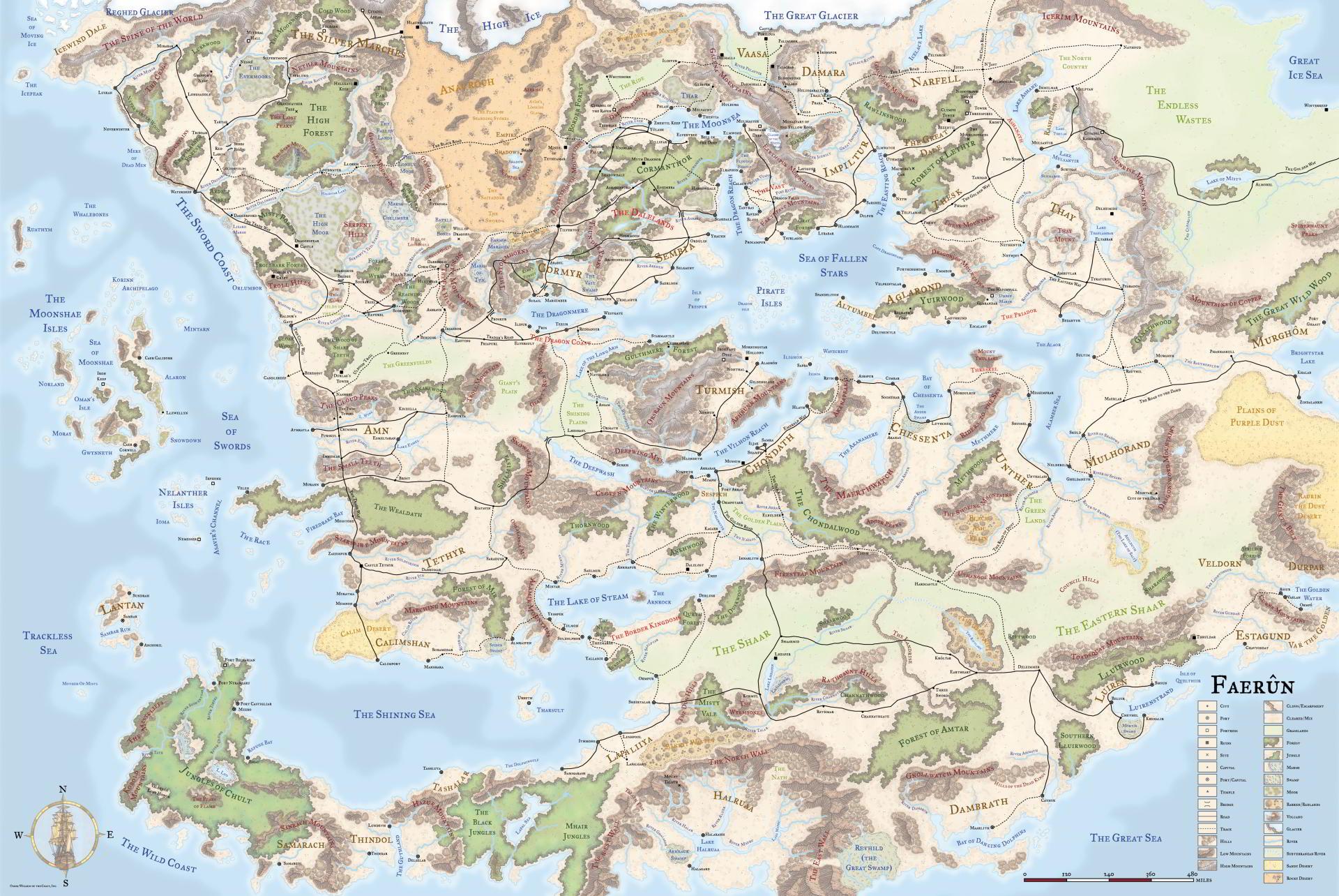 faerun the land of forgotten realms