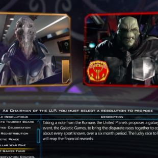 Galactic Civilization III's Diplomacy Screen