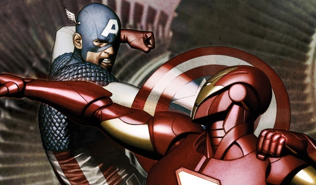 marvel civil war captain america iron man