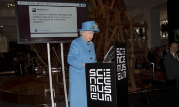the queen sends her very first tweet
