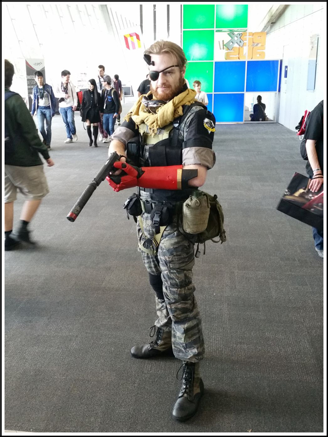 pax aus cosplay day 2 015 - metal gear solid 5 snake