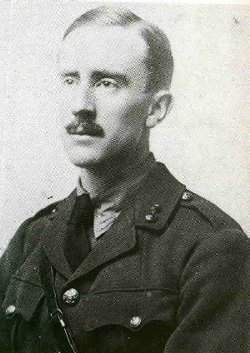 JRR Tolkien as a soldier in 1916