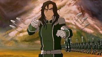 kuvira about to kill korra legend of korra battle of zaofu