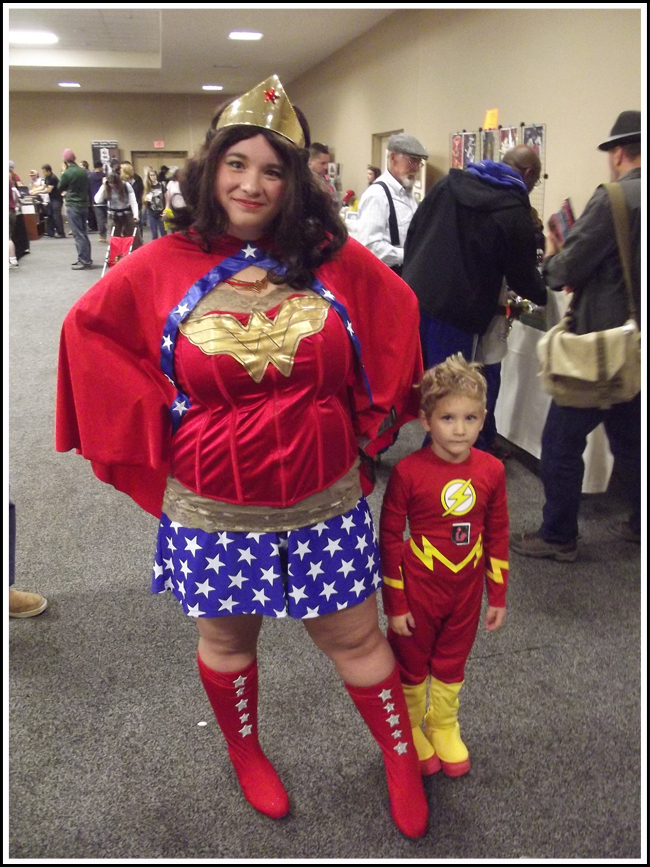 vermont cc wonder woman and lil flash