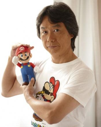shigeru miyamoto with mario