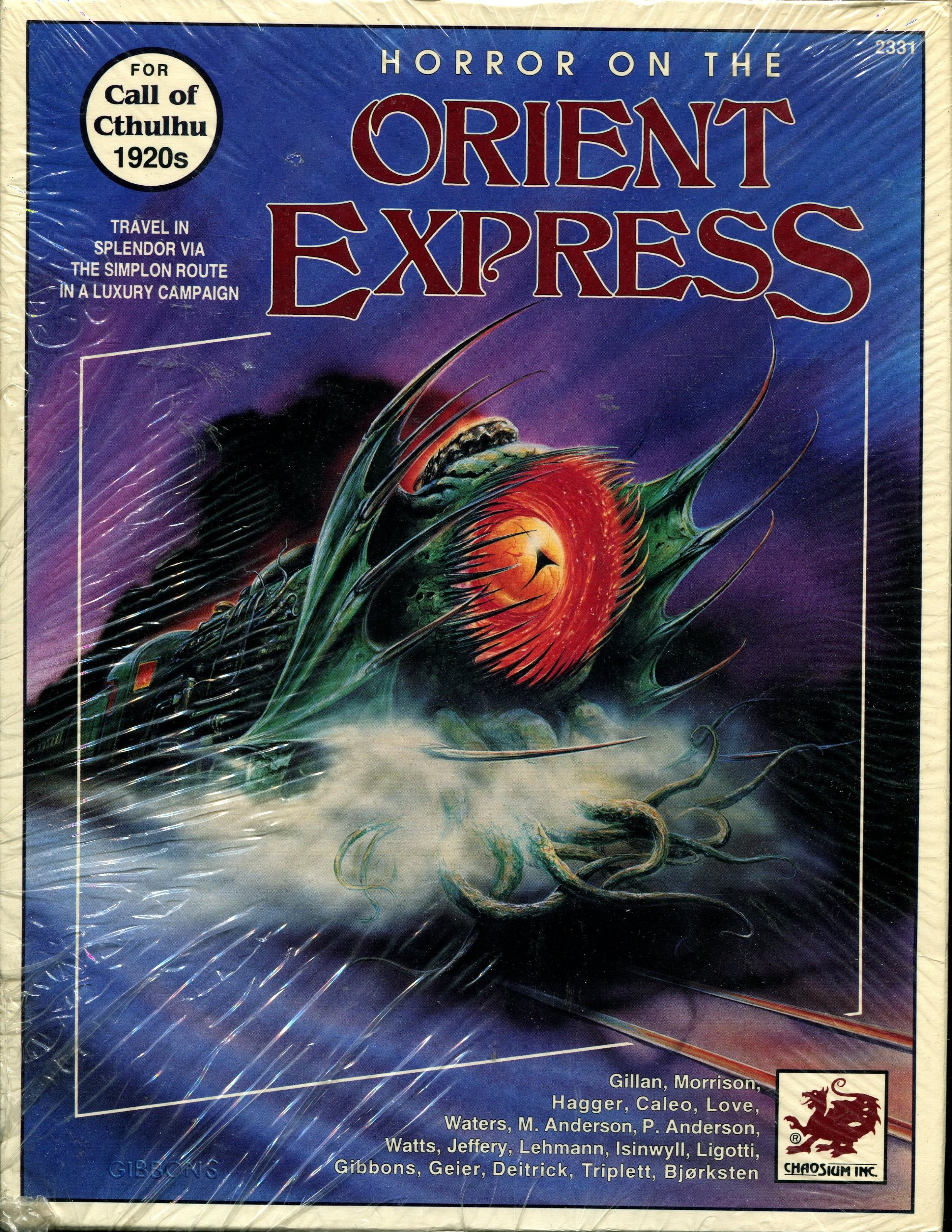 Horror on the Orient Express Original Set 1991