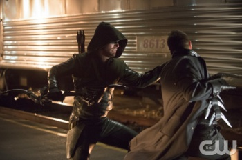 the arrow fights captain boomerang