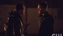 Karl Yune as Maseo and Stephen Amell as Oliver Queen. Photo Credit: Cate Cameron/The CW