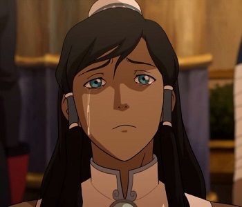 korra crying in wheelchair - legend of korra book three finale