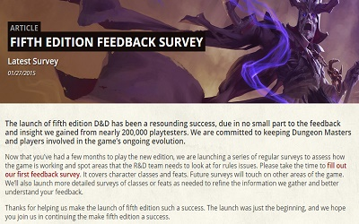 D&D 5th Survey