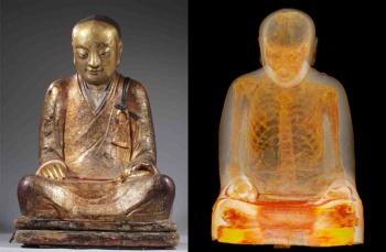 buddha mummy statue