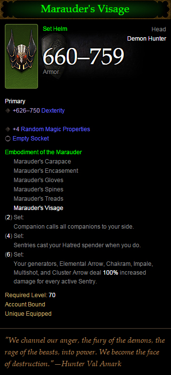 Diablo  Demon Hunter Marauder Multishot Build