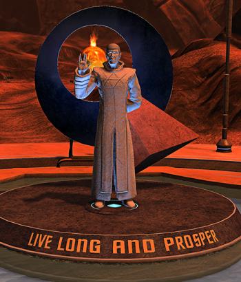 Star Trek Online Spock Statue