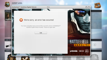 Battlefield: Hardline Locked Out