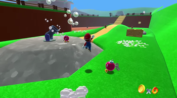Super Mario 64 Browser in article