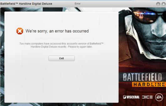 Battlefield Hardline DRM