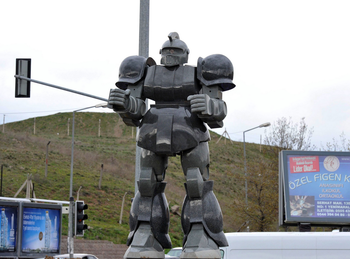 turkish mayor giant robot