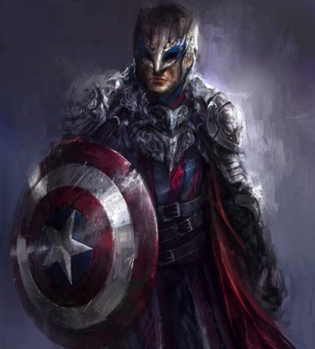 Dark Fantasy Avengers Captain America News Post