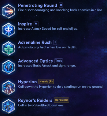 Raynor Abilities Heroes of the Storm