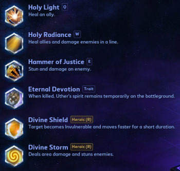 Uther abilities Heroes of the Storm