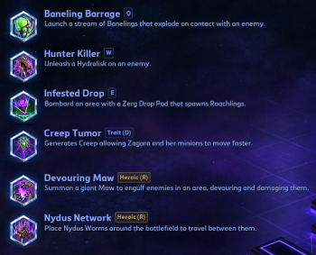 Zagara Abilities Heroes of the Storm