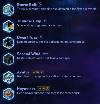 Muradin Abilities Heroes of the Storm