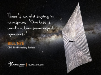 LightSail Bill Nye Quote