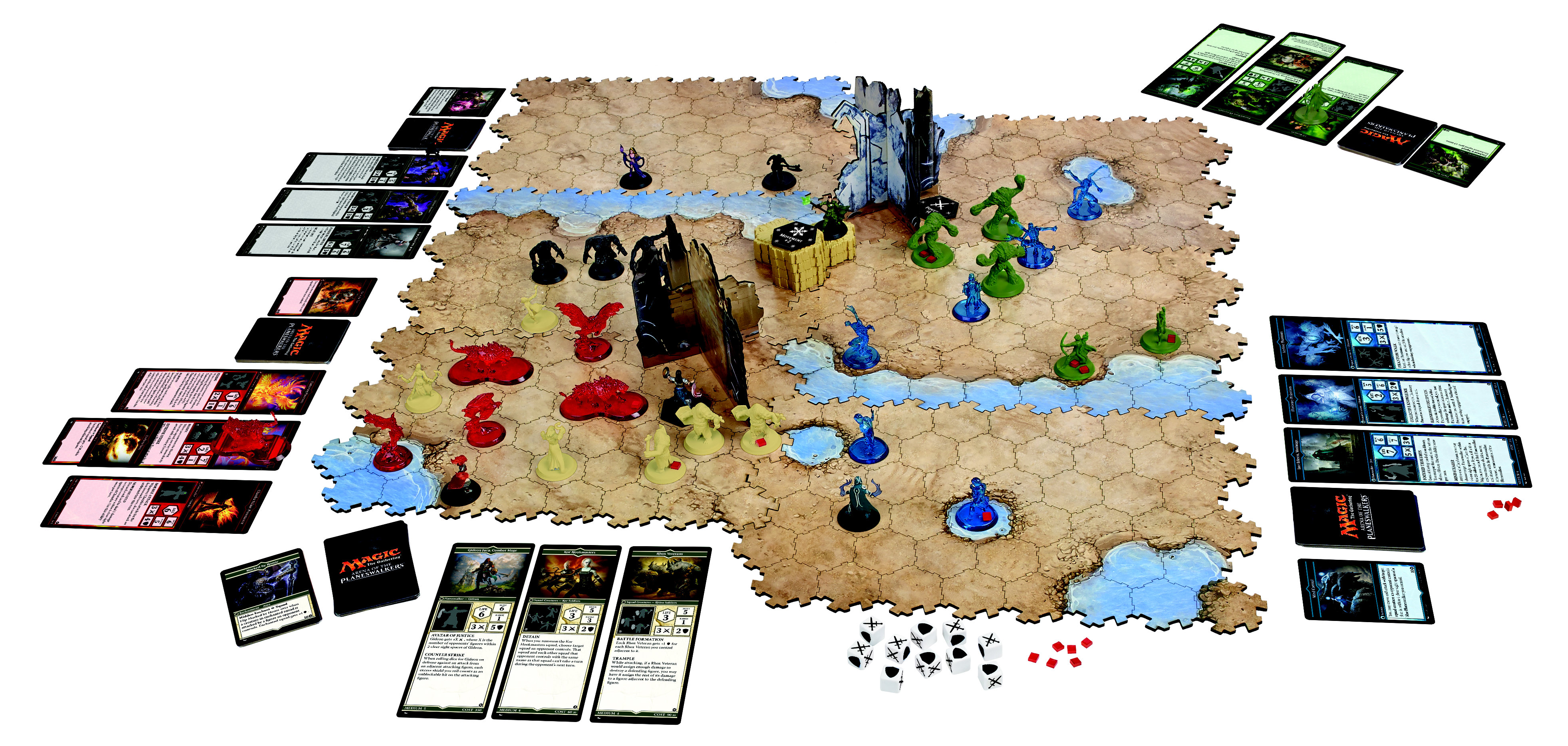 Magic The Gathering: Arena of the Planeswalkers Releases ... Planeswalker Arena Miniatures Size