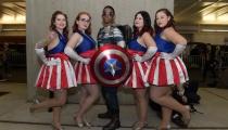 Captain America brought an entourage.
