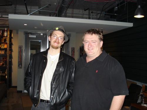 Yahtzee (left) and Gabe Newell