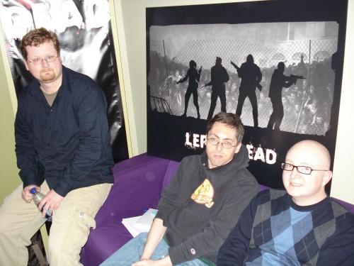 "Left to Right: Jay Pinkerton, Erik Wolpaw, Jerry ""Tycho"" Holkins"