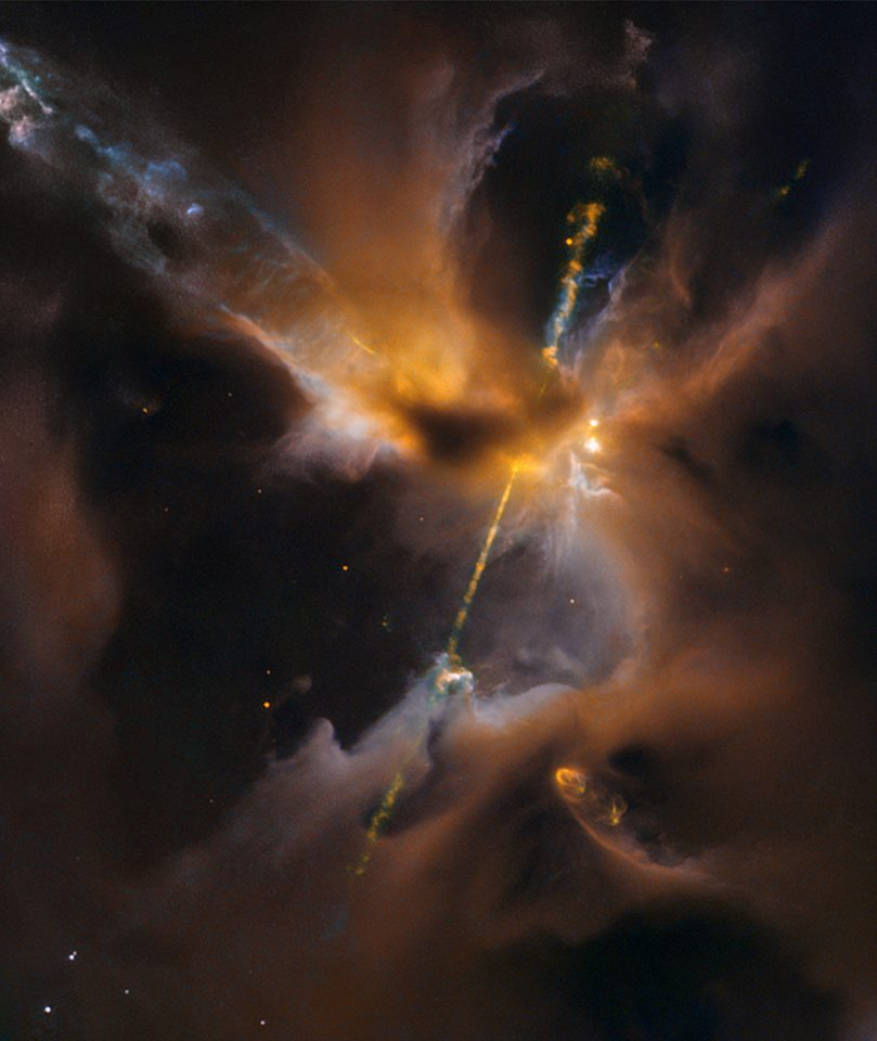 New Star Lightsaber effect from Hubble