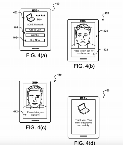 Amazon Selfie Patent Image