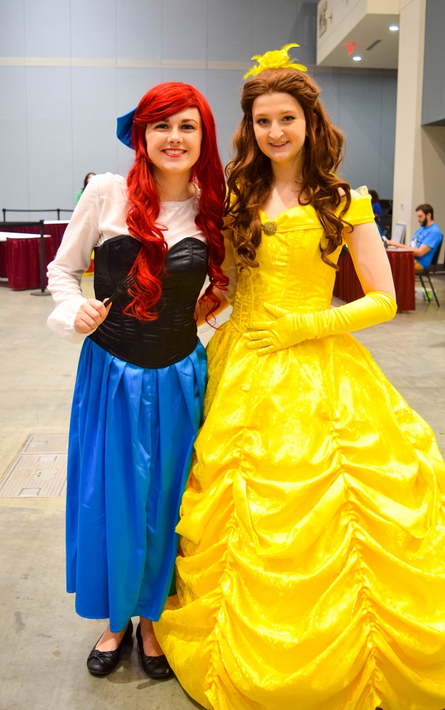 Princesses Belle and Ariel (as a human)