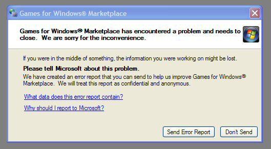 Games For Windows Fail