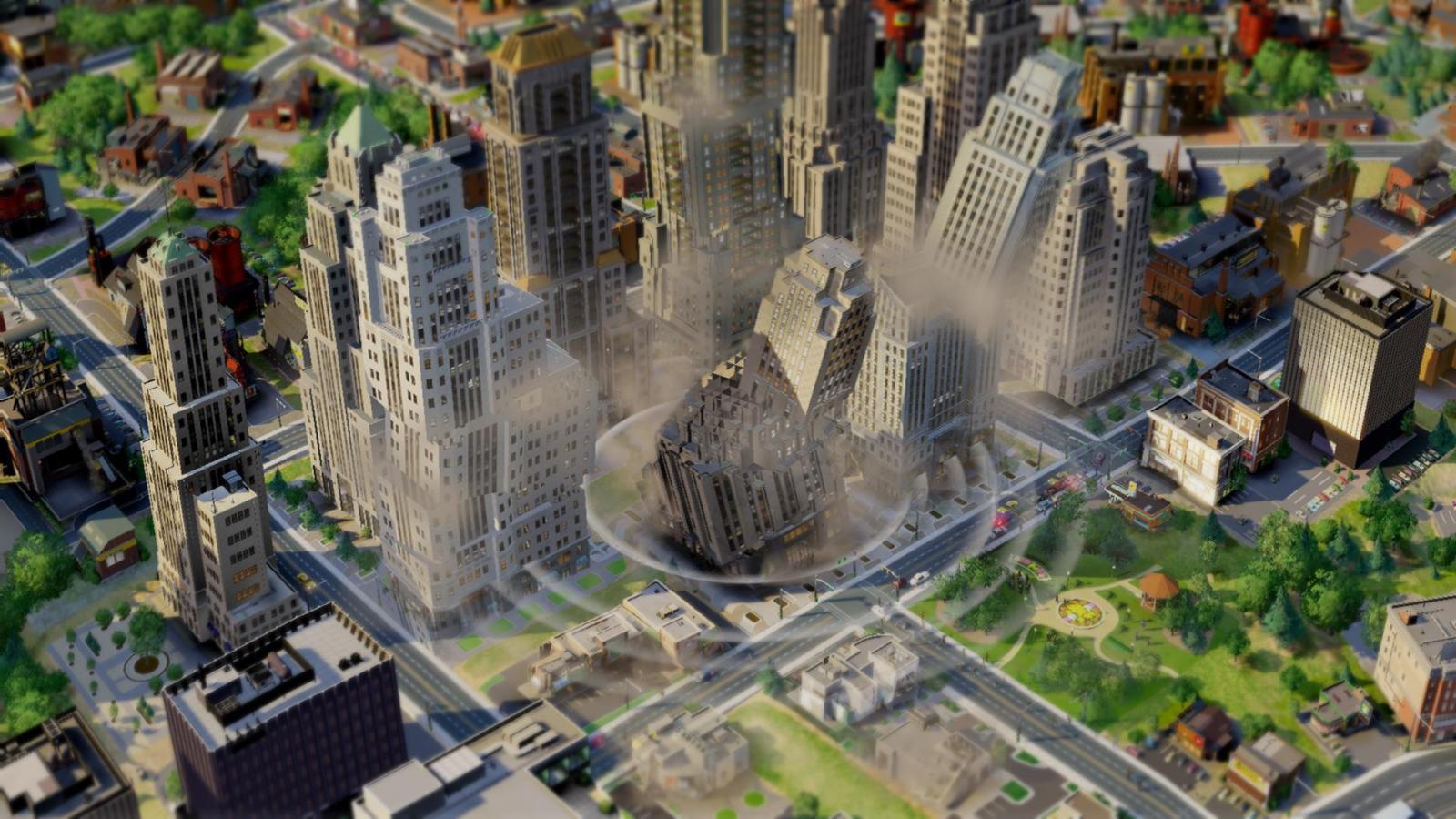 SimCity earthquake
