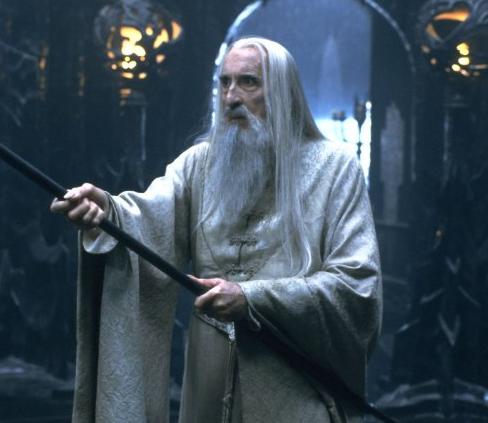 Sir Christopher Lee as Saruman LotR