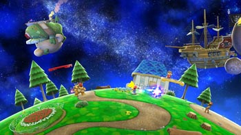 Super Mario Galaxy Stage in Super Smash Bros