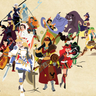 Disney Princess Final Fantasy Group