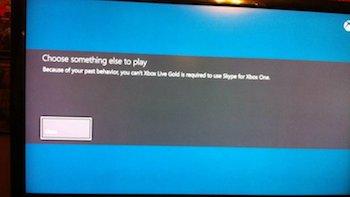 xbox one skype ban