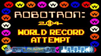 Robotron 2084 world record break attempt