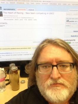 Gabe Newell selfie